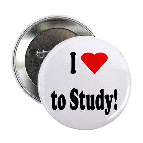 I Heart (Love) to Study Button