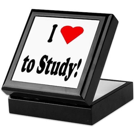 I Heart (Love) to Study Keepsake Box