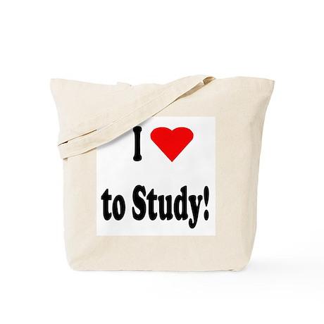 I Heart (Love) to Study Tote Bag