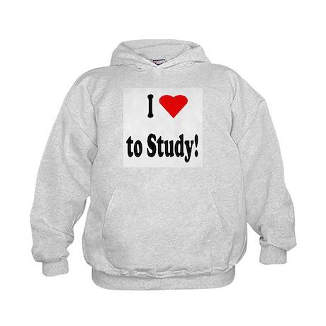 I Heart (Love) to Study Kids Hoodie