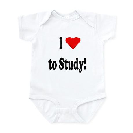 I Heart (Love) to Study Infant Bodysuit