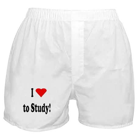 I Heart (Love) to Study Boxer Shorts