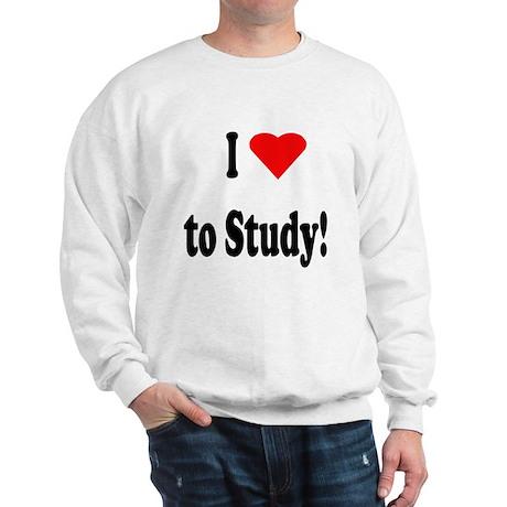 I Heart (Love) to Study Sweatshirt