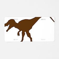 Unique Dinosaur Aluminum License Plate