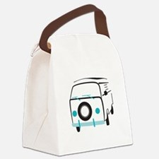 Vintage Bus Canvas Lunch Bag