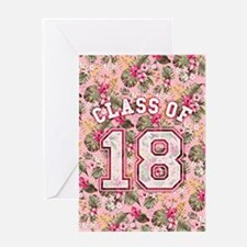Class of 18 Floral Pink Greeting Card
