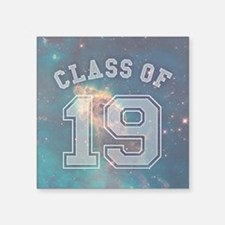 "Class Of 19 Space Square Sticker 3"" x 3"""