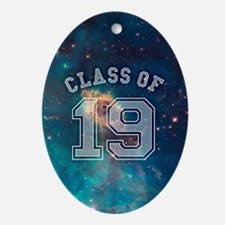 Class Of 19 Space Oval Ornament