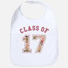 Class of 17 Floral Pink Bib