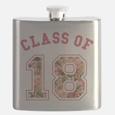 Class of 18 Floral Pink Flask
