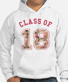 Class of 18 Floral Pink Hoodie