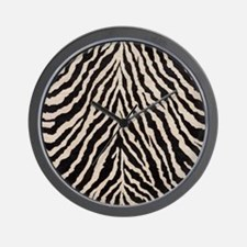 Zebra Print Brown Beige Tan Wall Clock