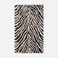 Zebra Print Brown Beige Tan Sticker (Rectangle)