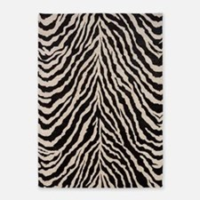 Zebra Print Brown Beige Tan 5'x7'Area Rug
