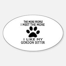 I Like More My Gordon Setter Decal