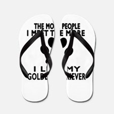 I Like More My Golden Retriever Flip Flops