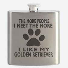 I Like More My Golden Retriever Flask