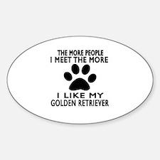 I Like More My Golden Retriever Decal