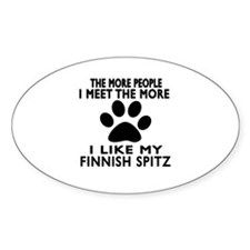I Like More My Finnish Spitz Decal
