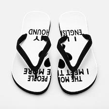 I Like More My English Foxhound Flip Flops