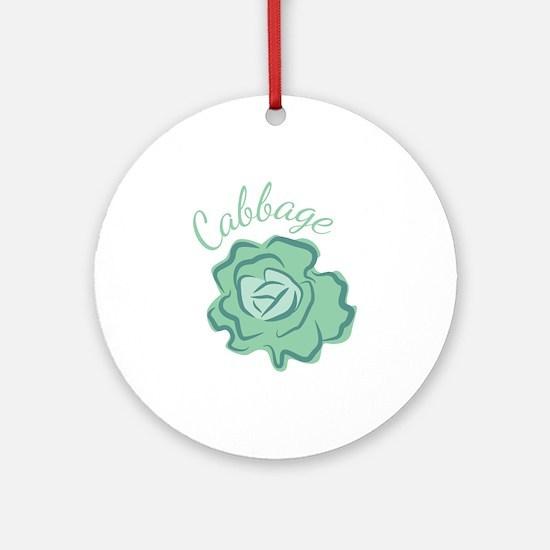 Cabbage Head Round Ornament