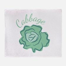 Cabbage Head Throw Blanket