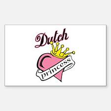 Dutch Princess Rectangle Decal