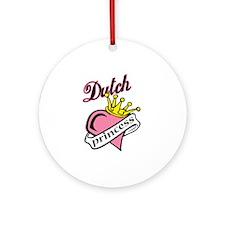 Dutch Princess Ornament (Round)