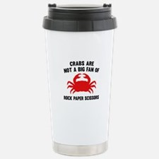 Crabs Are Not A Big Fan Ceramic Travel Mug