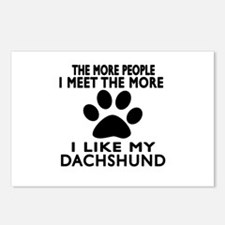 I Like More My Dachshund Postcards (Package of 8)