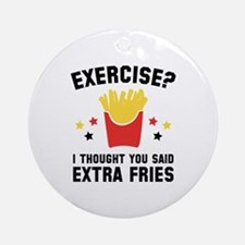Exercise? Ornament (Round)