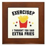 Extra fries Framed Tiles