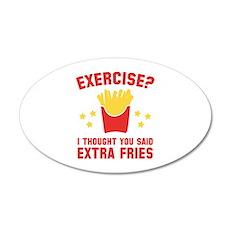 Exercise? 22x14 Oval Wall Peel