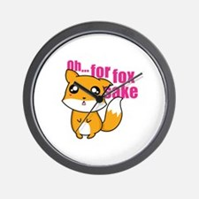 Oh... For Fox Sake Wall Clock
