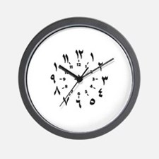 CLOCKFACE ARABIC NUMERALS Wall Clock