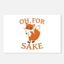 Oh, For Fox Sake Postcards (Package of 8)