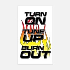 Burnout Black Rectangle Decal
