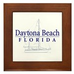 Daytona Beach Sailboat - Framed Tile