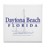 Daytona Beach Sailboat - Tile Coaster