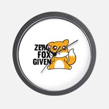Zero Fox Given Wall Clock