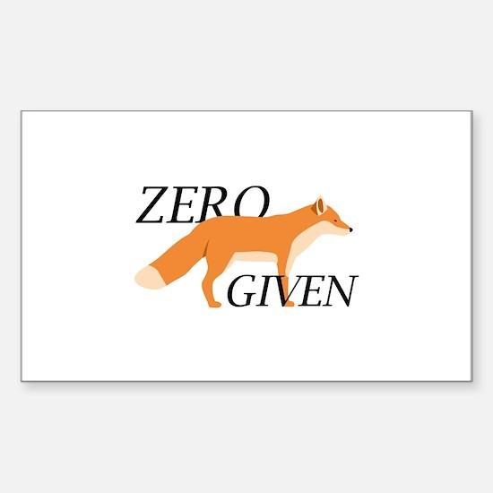 Zero Fox Given Sticker (Rectangle)