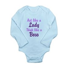 Cute Swedish wife happy life Long Sleeve Infant Bodysuit