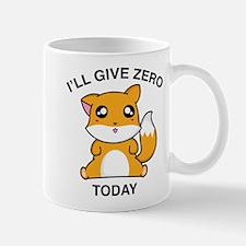 I Will Give Zero Fox Today Small Small Mug