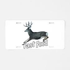Fast Food Buck Deer Aluminum License Plate