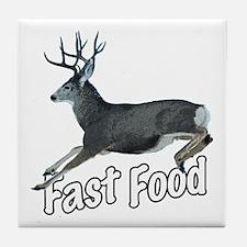 Fast Food Buck Deer Tile Coaster