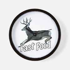 Fast Food Buck Deer Wall Clock