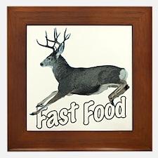 Fast Food Buck Deer Framed Tile