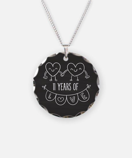 11th Anniversary Gift Chalkb Necklace
