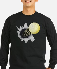 Volleyball Flying Out Of Hole Long Sleeve T-Shirt