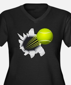 Tennis Ball Flying Out Of Hole Plus Size T-Shirt